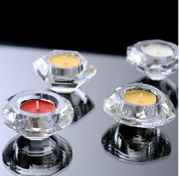Dappen Dish Wedding party crystal tea light holder small crystal candle holder