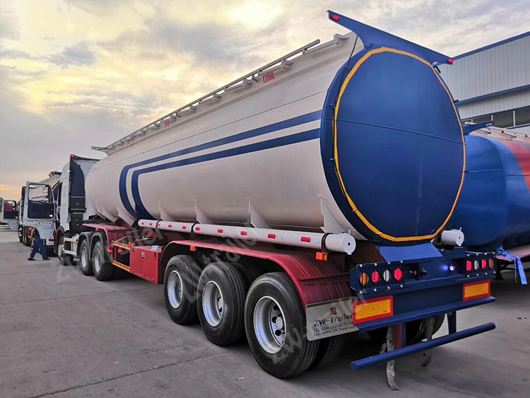 Aluminum Fuel Tank Semi Trailer 42000 Liters With BPW Axle