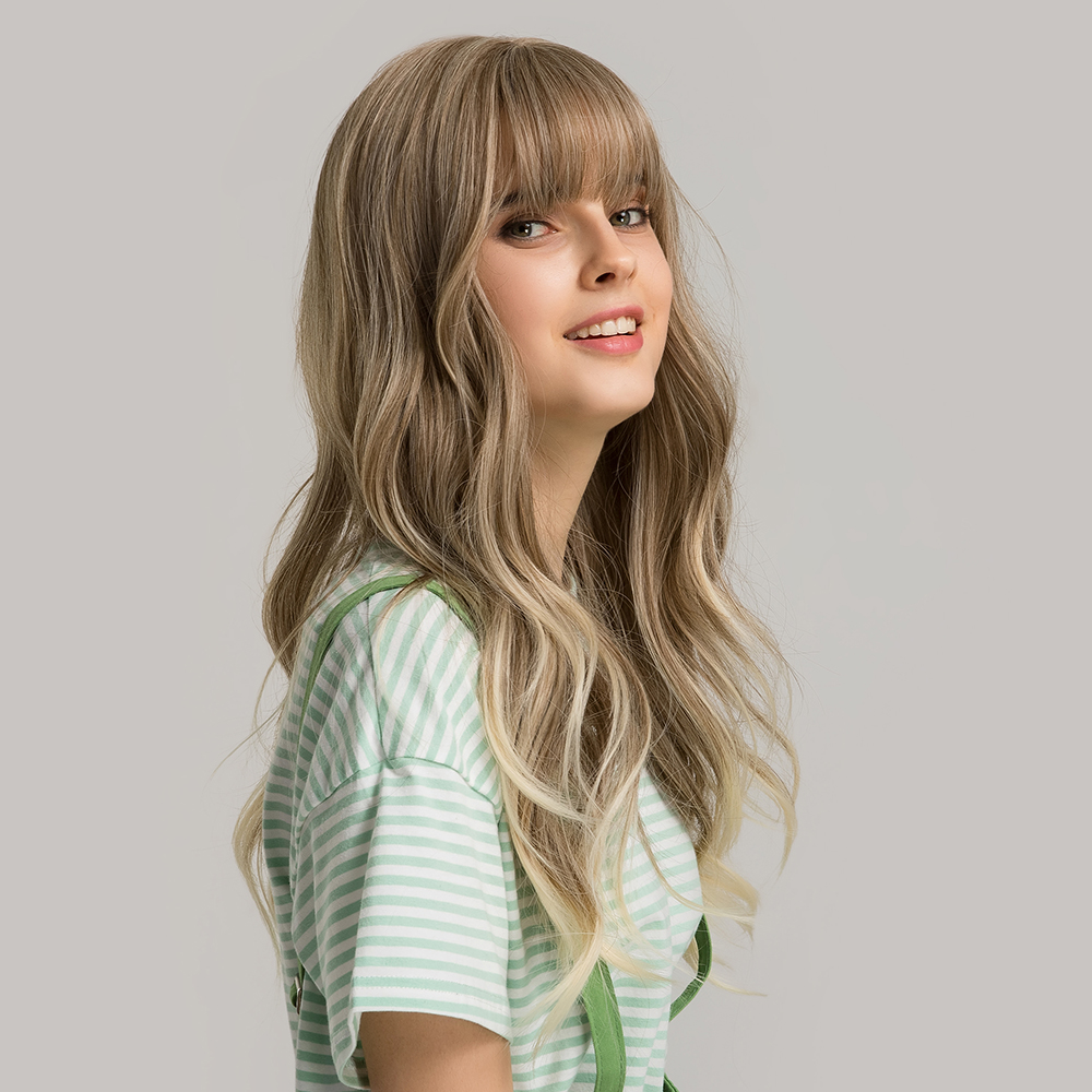 Inteley ombre hair cheap <strong>synthetic</strong> <strong>wigs</strong> long
