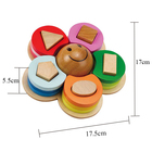Custom Baby 3D Puzzle Tools Intelligent Montessori Teaching Aid Kids Shape Sorter Wooden Educational Toys For Girls