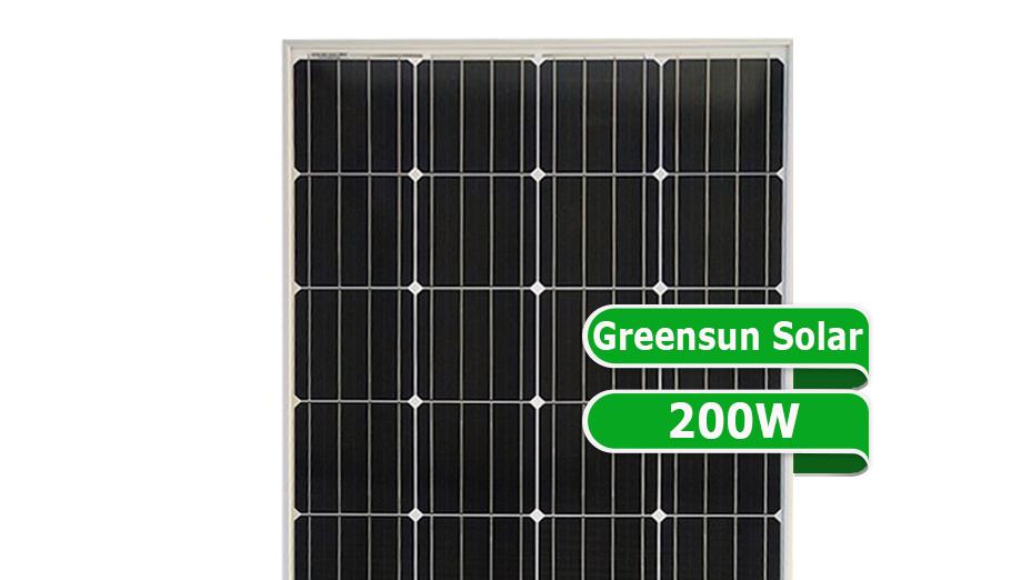 Greensun 50W 60W 80W 90W בניין משולב Photovoltaics 100W 200W מחיר