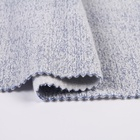 Solid plain terry ant polyester cotton in one side brushed knitted fleece fabric