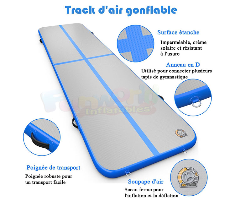 Portable inflatable track gym inflatable air track with pump air track gymnastics 3x1x0.1m