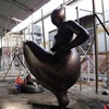 Bronze fat lady sculpture large abstract statues for sale