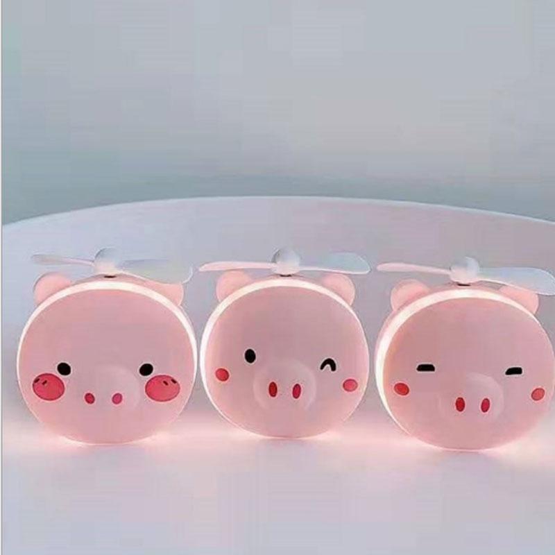 A buon mercato Light Up LED Mano Compact Pocket Fan Make Up Specchio