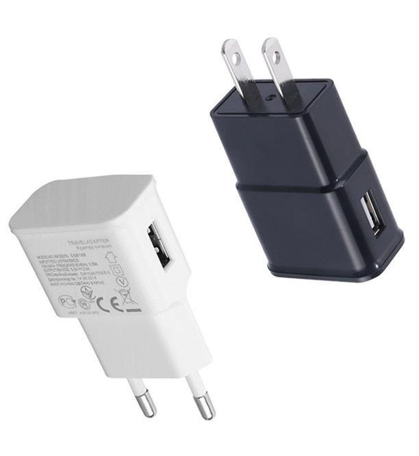 दीवार चार्जर यूरोपीय संघ अमेरिका प्लग 5V 1A यूएसबी दीवार चार्जर के लिए स्मार्ट फोन