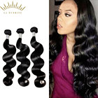 wholesale natural color body wave 100% unprocessed raw virgin raw hair bundles