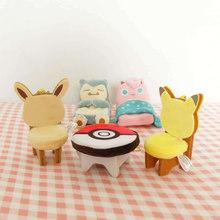 Pikachu Eevee Jigglypuff ball Snorlax Play house школьный портфель подвеска плюшевая игрушка брелок чучела кукла подарки для детей(Китай)