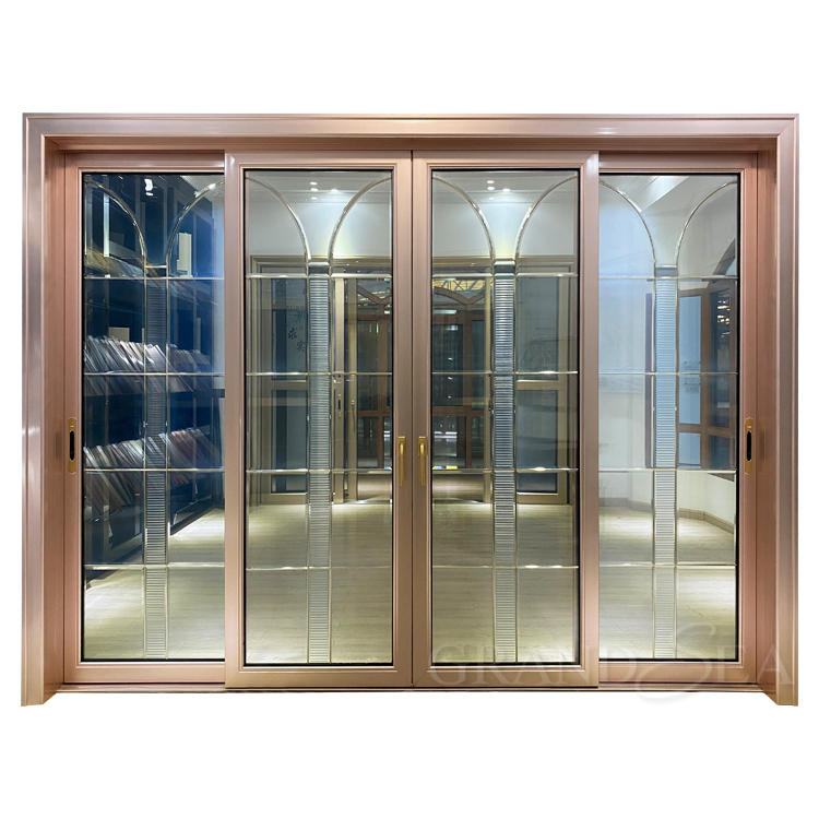 2 Tracks Soundproof Double Glass Aluminum Sliding Doors and Windows