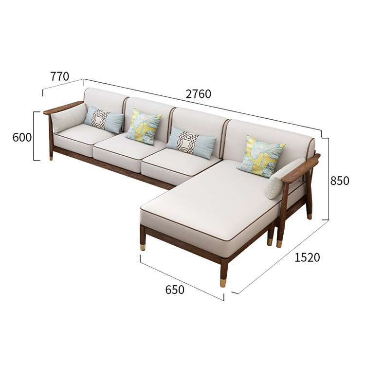 product-BoomDear Wood-Indoor fabric Cheap 1234 seater sofas sectionals living room furniture wooden -2