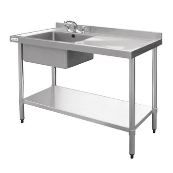 Restaurant Hotel stainless steel work table with backplash