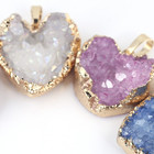 Wholesale Raw Natural Agate Cluster Jewelry Gemstone Pendant Crystal Heart shape Necklace