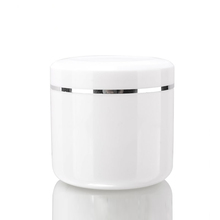 New style round cosmetic plastic whole white cream jar packaging 500ml cream container