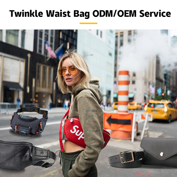 Twinkle amazon hot selling fanni pack logo waist bag with durability and waterproof