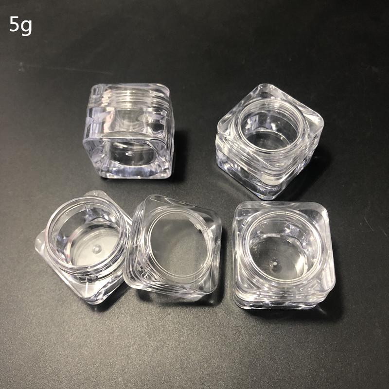3g 5g kunststoff PS diamant lidschatten creme jar, lidschatten jar, kosmetische gesichts creme container