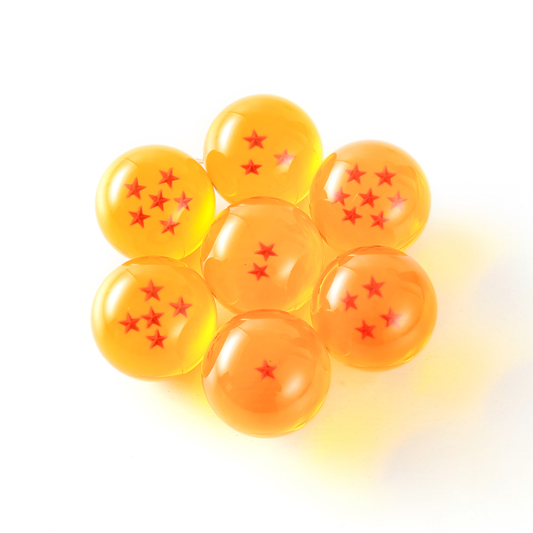 Hot Sale 42mm Japanese Anime dbz Resin Acrylic Craft Seven Star Dragon Ball z Balls