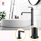 Bathroom [ Cupc Upc Faucet ] Black Water Faucet Brush Gun Black CUPC UPC Sanitary Wares Chrome Surface Single Hole Handle Bathroom Face Basin Sink Water Brass Body Faucet Tap T