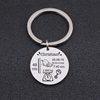 Round Baby Charm Keychain Personal Name Date Of Birth Weight Time Height For Newborn Key Ring Gift QKEY-2018