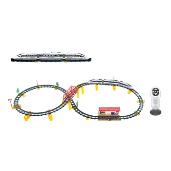 R/C High quality plastic slot train toy race track play set for kids