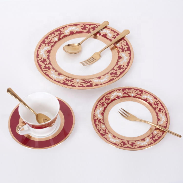 China golden patterns plates