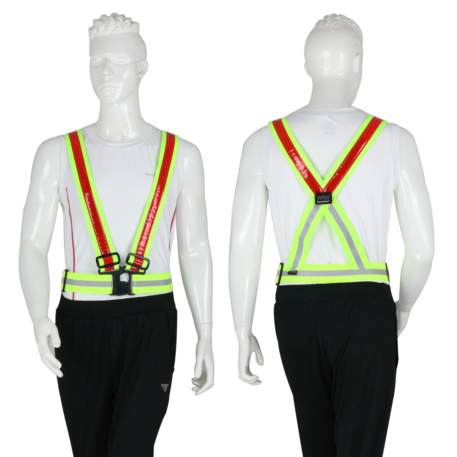 USB rechargeable night vision flashing LED <strong>orange</strong> reflective safety <strong>vest</strong>