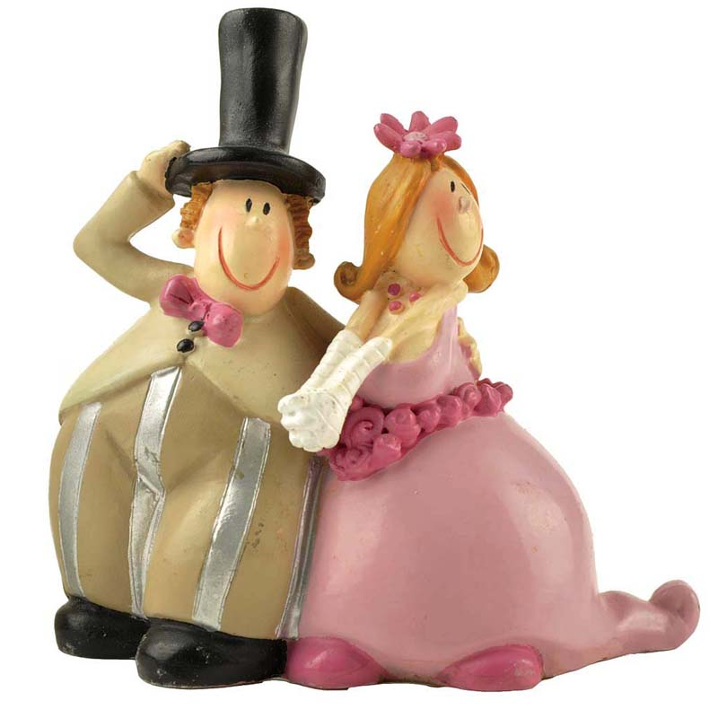 Factory Direct Supply Polyresin cartoon funny  wedding cake topper figurine