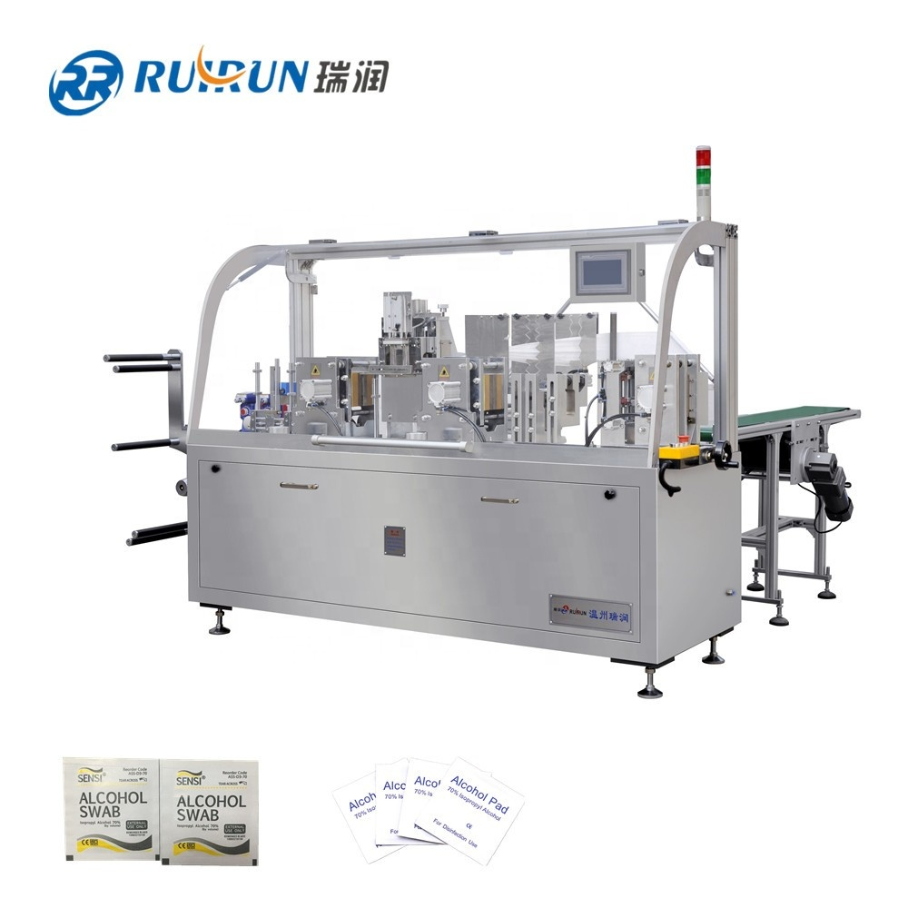 Automatic four side sealing wet tissue /wipes packing machine baby wet tissue machine