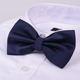 Polyester Fabric Mixed Solid Color Butterfly Tie Wedding Party Royal Blue Bow Tie for men