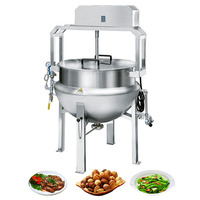 XYJBG-200S High Quality Steam Jacketed Cooking Kettle/ Heated Jacketed Mixing Tank