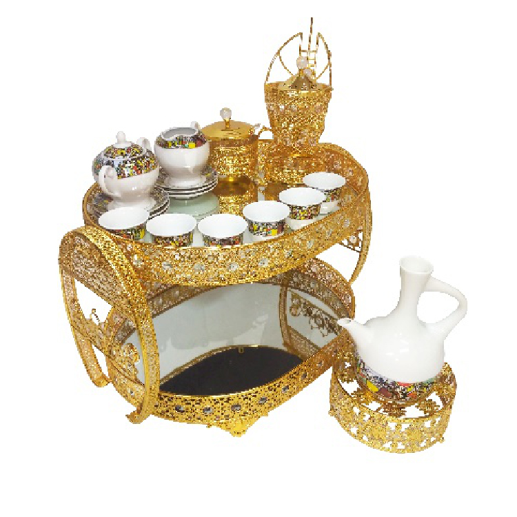 2019 wholesale high quality porcelain tea cup and saucer with ethiopian table set