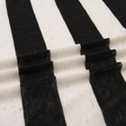 Hot sale yarn dyed jersey linen polyester cotton black white stripe knitted fabric stocklot