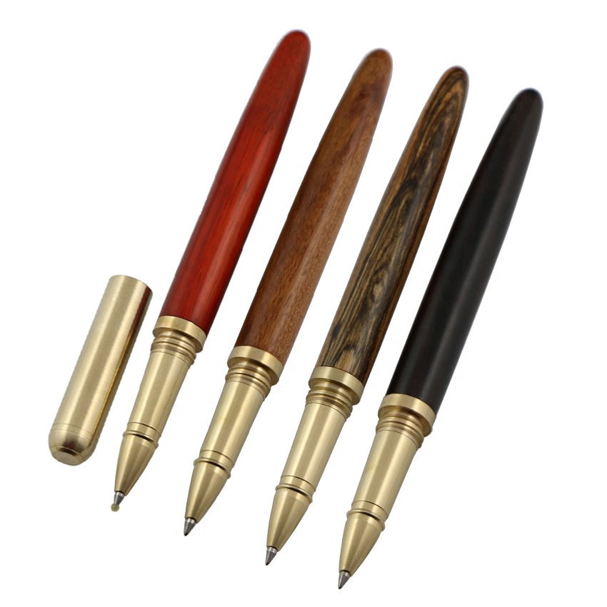 Promotion high quality antique copper wood roller <strong>pen</strong> brass eco friendly gift <strong>pen</strong>