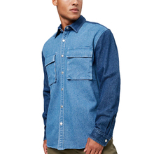 <span class=keywords><strong>En</strong></span> gros personnalisé patchwork <span class=keywords><strong>couleur</strong></span> bloqué <span class=keywords><strong>denim</strong></span> <span class=keywords><strong>chemises</strong></span> hommes