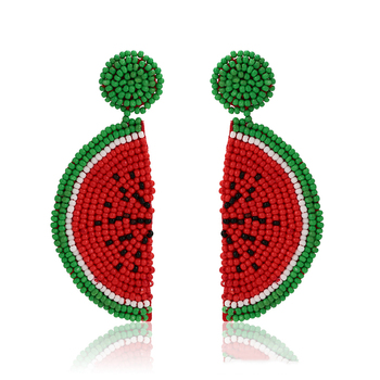 99564 xuping fashion 2019 new arrival watermelon color lovely gifts long drop earring for lady