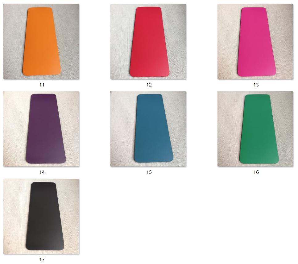 पु योग चटाई पर्यावरण के अनुकूल उत्पादों थोक मैट शीर्ष काली सतह