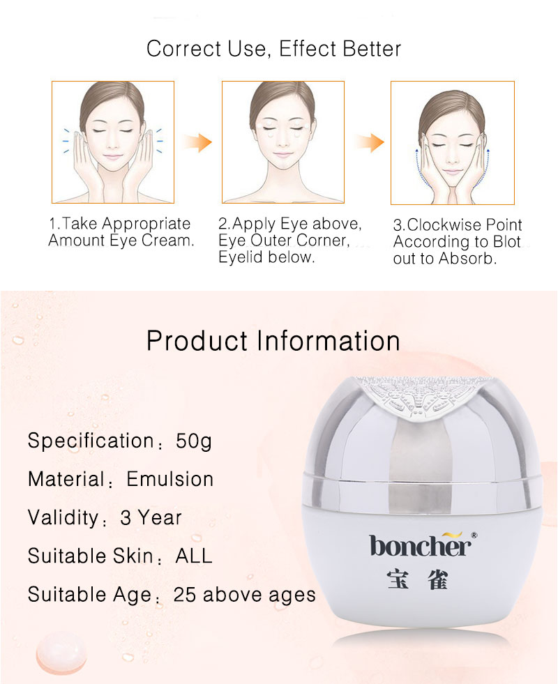 High quality 50g Wrinkle Dark circles Bags under the eyes Hydration Moisturizing Eye Cream