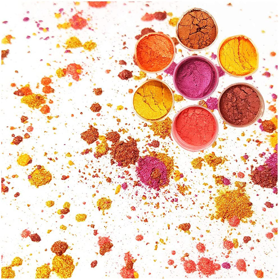 Kosmetische grade glimmer pulver pigment für lip gloss seife, der nagel seife lidschatten