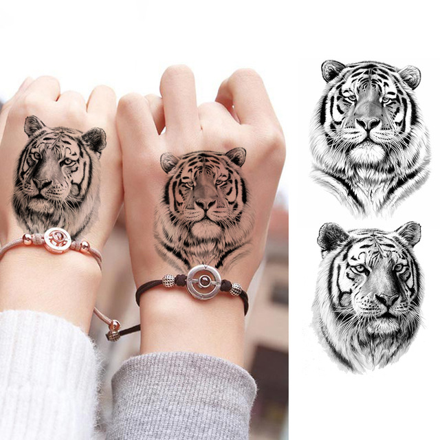 Hand Arm Black 3D Snacks Eagle Scorpoin Deer Tiger Pattern Sex Women Body Tattoo Sticker