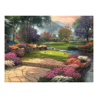 Support customization living waters by thomas kinkade 5d diy full drill diamond painting diamond embroidery