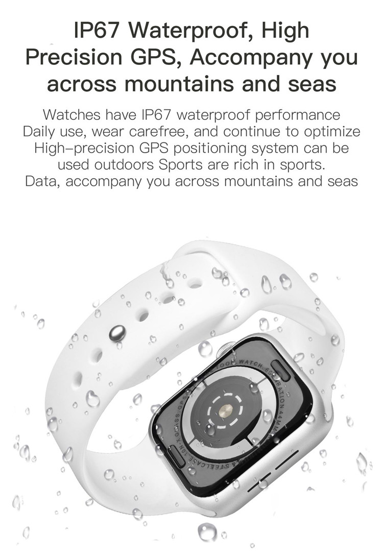 Remote photography QHX-I7 Digital Smart watch Waterproof IP67 Mobile Watch fast charging