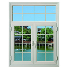 New simple iron window grill design arched double glazed aluminum casement windows doors frame teak wood