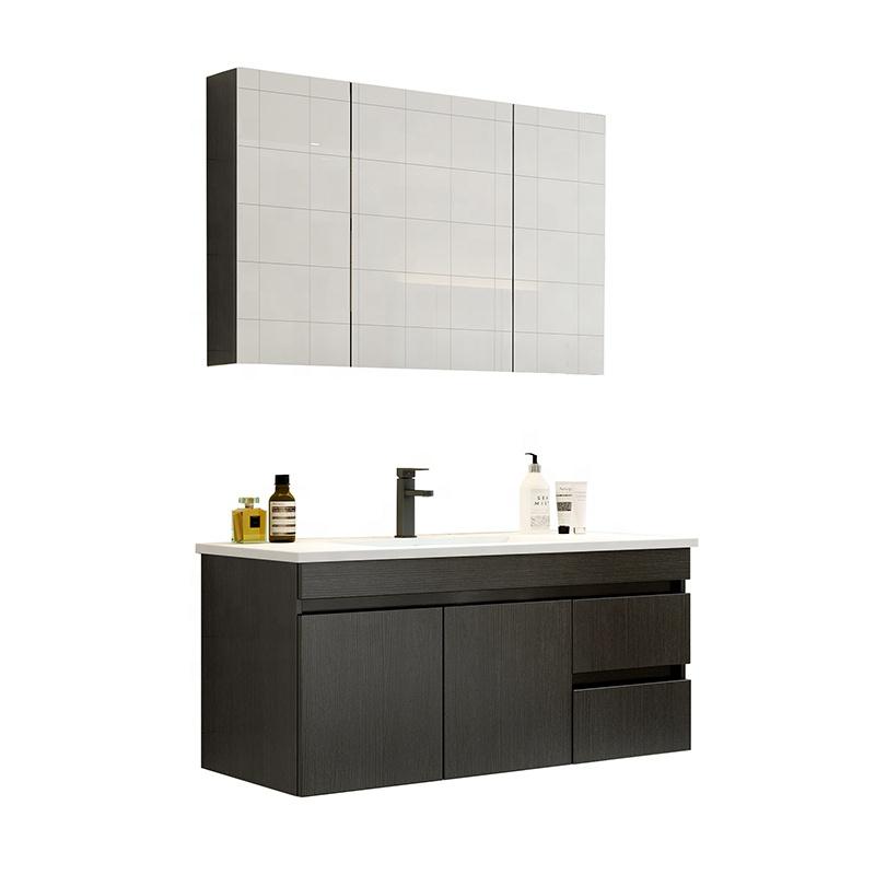 Toptan tasarım Modern uzun boylu banyo lavabo dolapları modüler duvar asılı banyo Vanity
