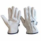 Winter Heavy Duty Goatskin Leather Outdoor Work Gloves for Driver Rigger Safety and Gardening