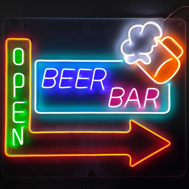 Cosun Flexible Open Tiger Acrylic Custom Led Neon Sign Letter China Manufacturer