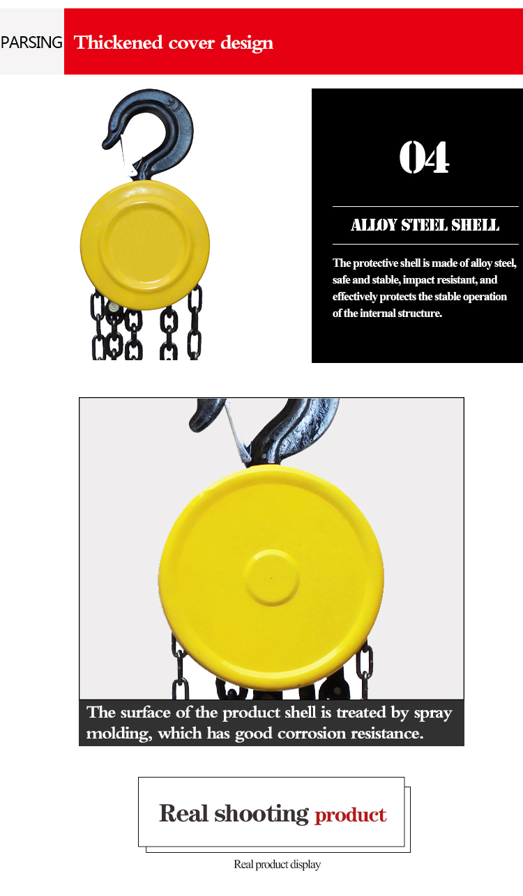 wholesale 1T with great price Hand pull chain hoist trolley China manufacturer