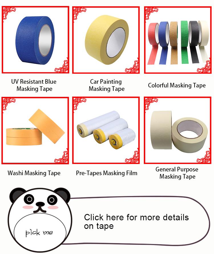 Kustom Tujuan Umum Produsen Roll Crepe Pelukis Masking Pita Kertas