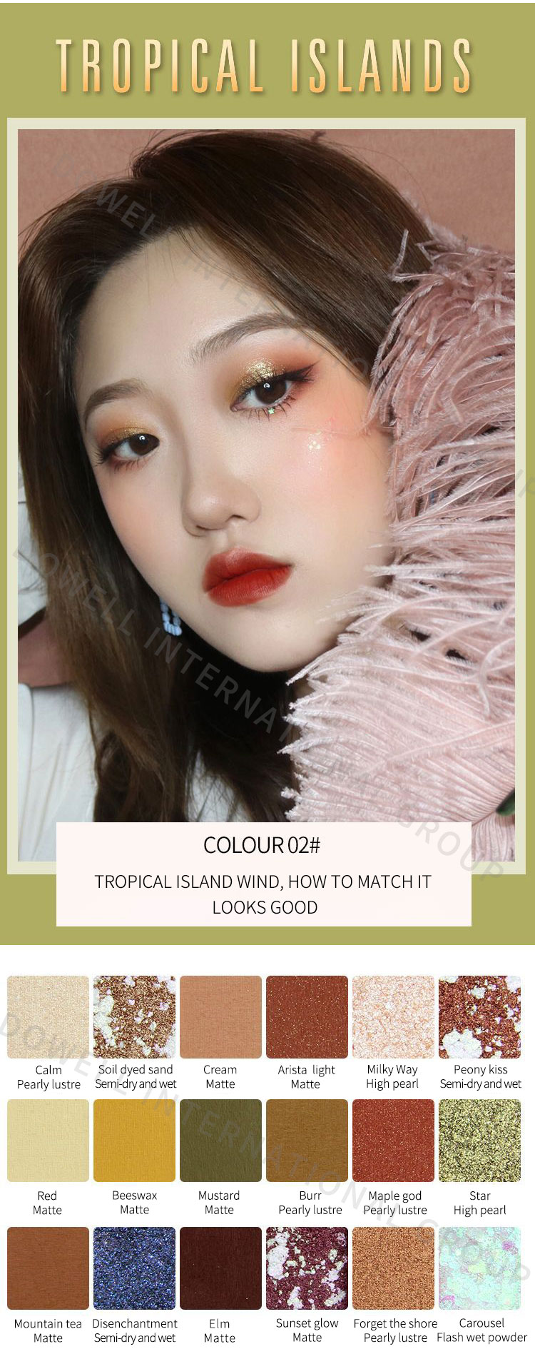 2019 NEW wholesale OEM/ ODM cosmetics distributor 9 colors palette glazed eyeshadow private label eye shadow