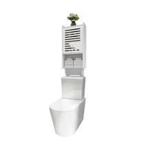 Водонепроницаемый не перфорированный шкаф для ванной комнаты, Полка над унитазом, настенный шкаф для хранения туалетных принадлежностей д...(Китай)