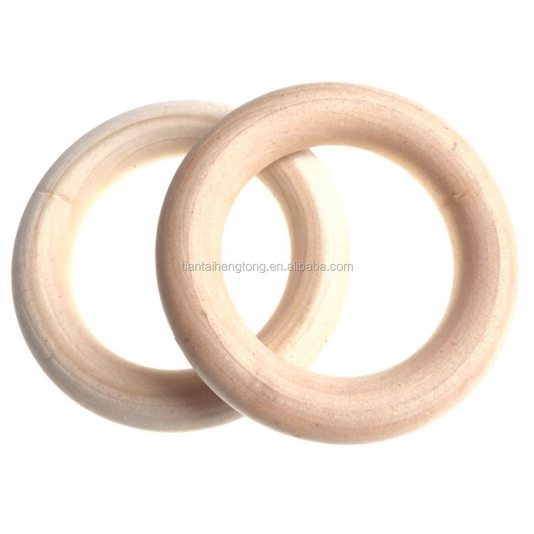 Natural Round Untreated Plain Wooden Balls Bead With Hole 30 35 40 mm 1-5 10