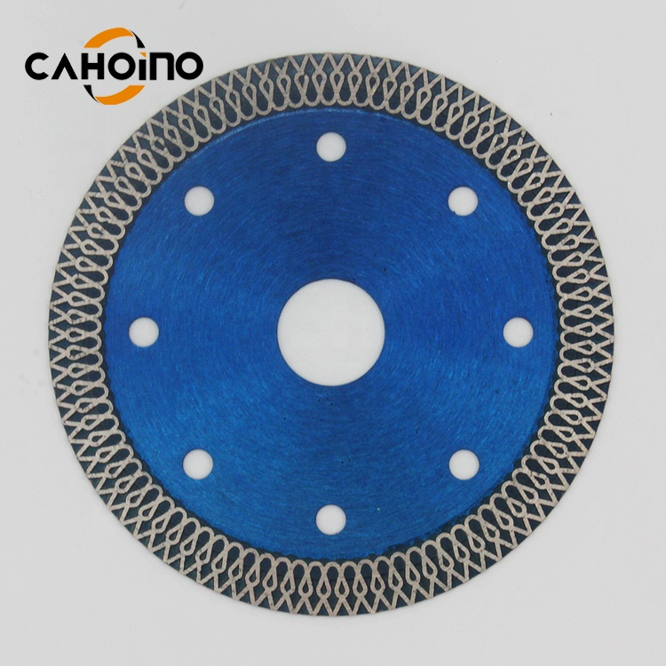 105*1.2*10*20mm Mesh Shape Diamond Circular Saw Blade For Dry/Wet Cutting Ceramic Tile Porcelain